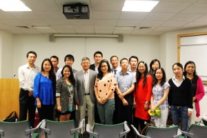 with Prof Weiying Zhang in London